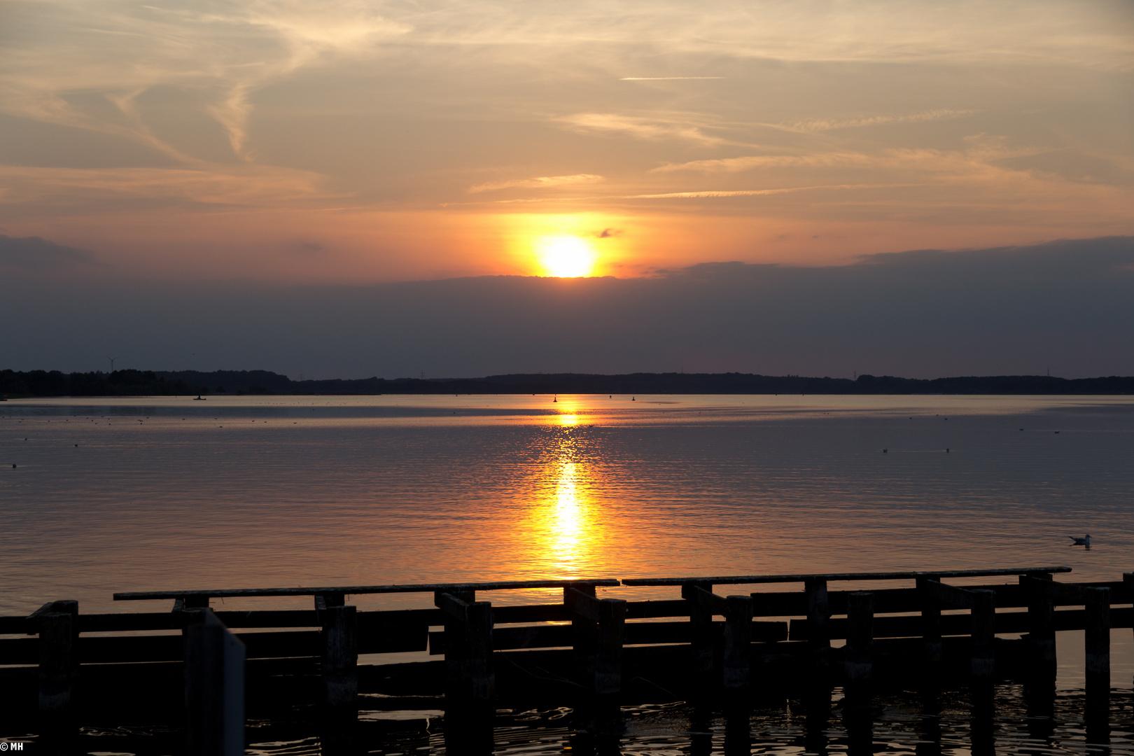Sonnenuntergang am Fleesensee II