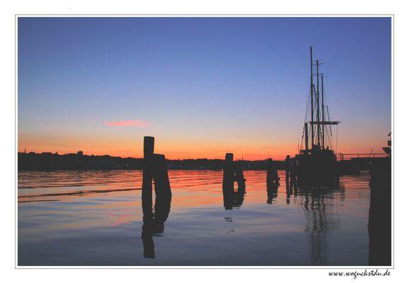 Sonnenuntergang am Flensburger Hafen I