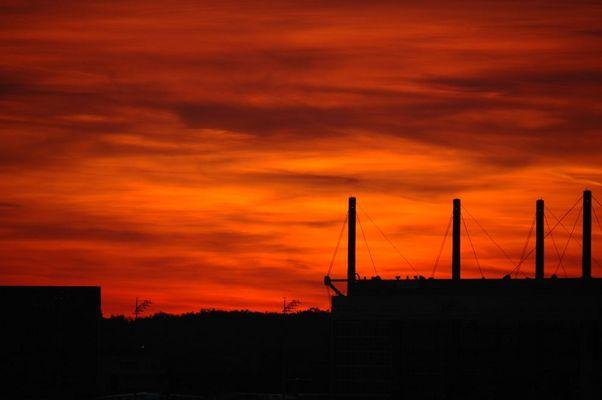Sonnenuntergang am Flughafen 2