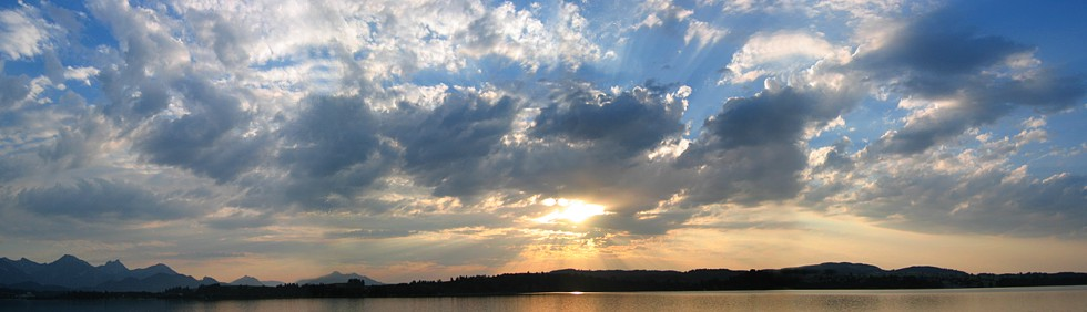 Sonnenuntergang am Forggensee / Allgäu
