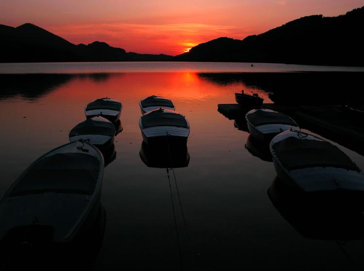 Sonnenuntergang am Fuschlsee 1
