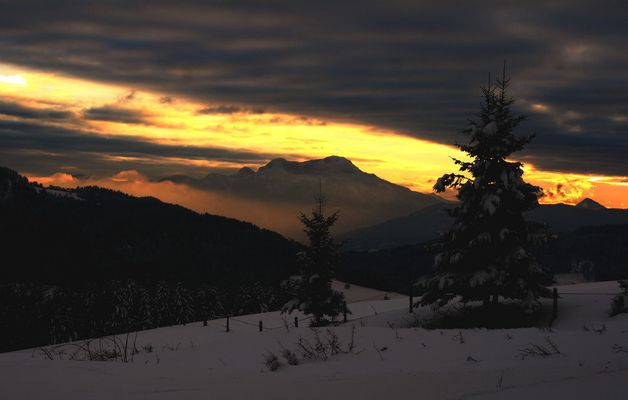 Sonnenuntergang am Gahberg