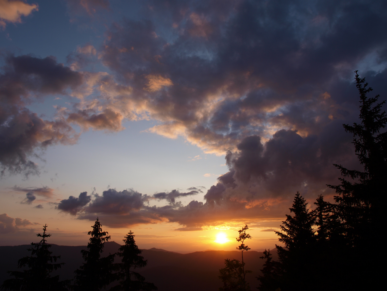 Sonnenuntergang am großen Falkenstein