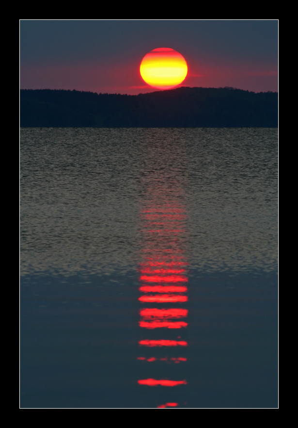 Sonnenuntergang am Großen Jasmunder Bodden