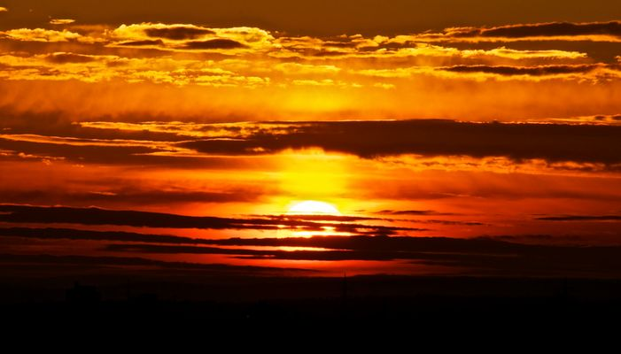 Sonnenuntergang am Grünen Heiner