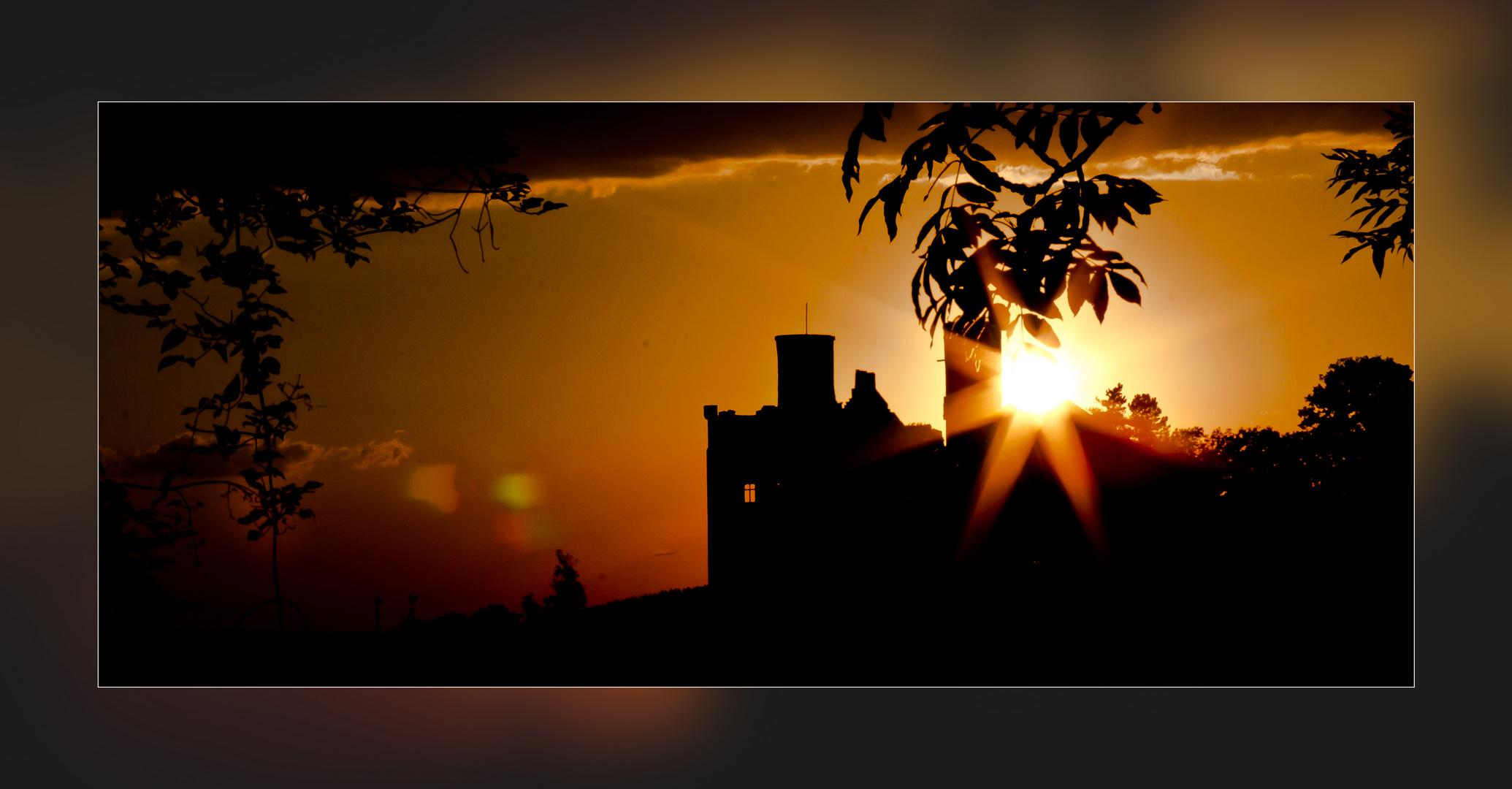 Sonnenuntergang am Hanstein