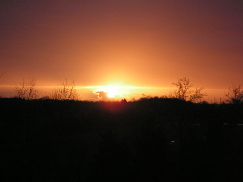 Sonnenuntergang am Heilig Abend