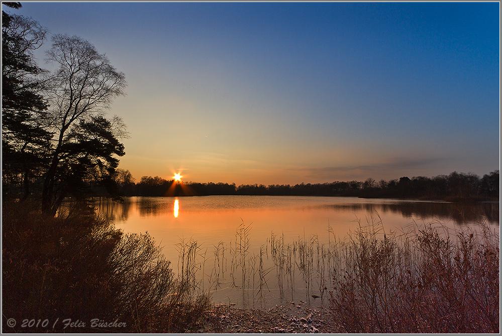 "Sonnenuntergang am ""Heiligen Meer"""