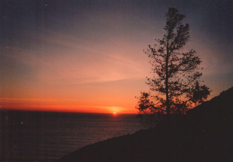 Sonnenuntergang am Highway No. 1