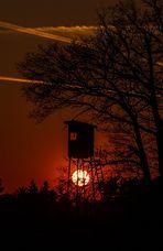 Sonnenuntergang am Hochsitz