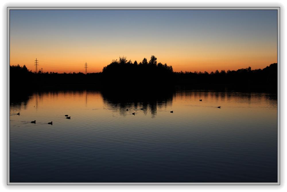 Sonnenuntergang am Horstmarer See - Aufnahme 1