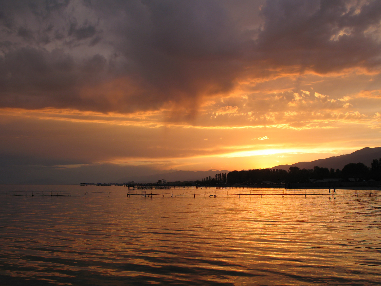 Sonnenuntergang am Issikul
