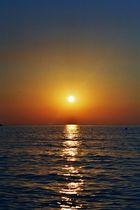 Sonnenuntergang am Italienischen Mittelmeer