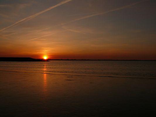 Sonnenuntergang am Jadebusen / Dangast