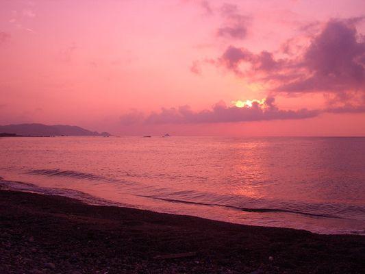 Sonnenuntergang am japanischen Meer