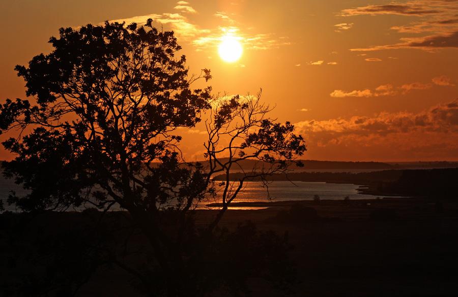 Sonnenuntergang am Jasmunder Bodden