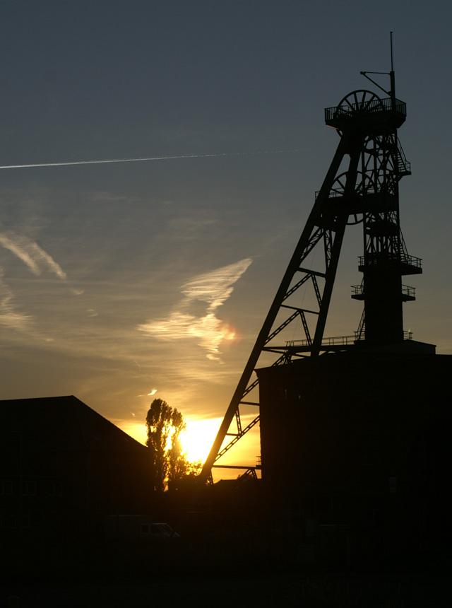 Sonnenuntergang am Kalischacht in Hänigsen-Riedel
