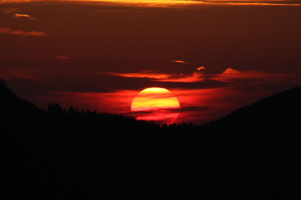 Sonnenuntergang am Kasberg