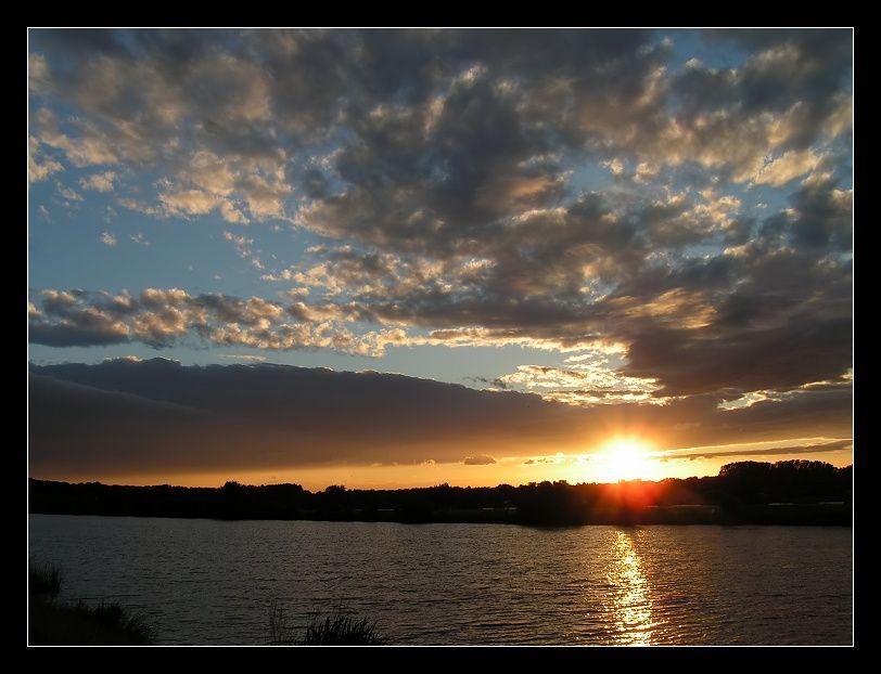 Sonnenuntergang am Kinzigsee