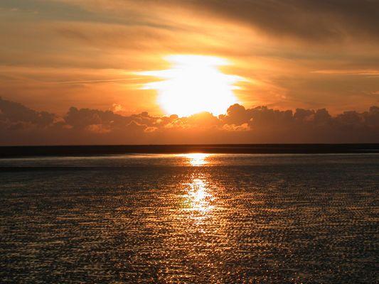 Sonnenuntergang am Kniepsand II