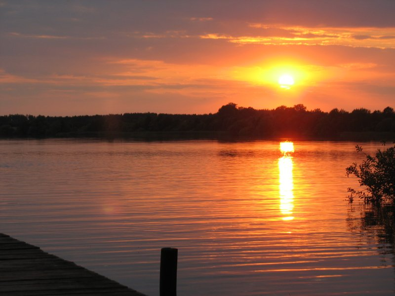 Sonnenuntergang am Krakower See