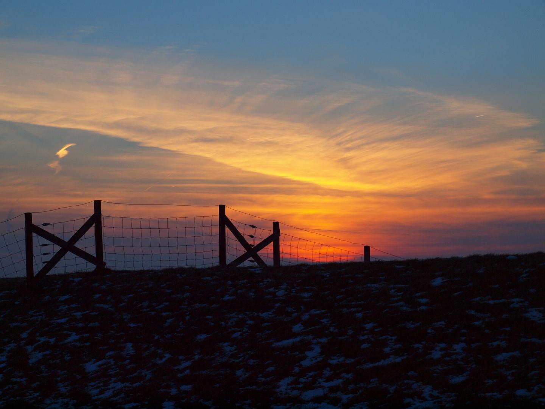 Sonnenuntergang am Krummhörn ,nähe des Pilsumer Leuchtturms