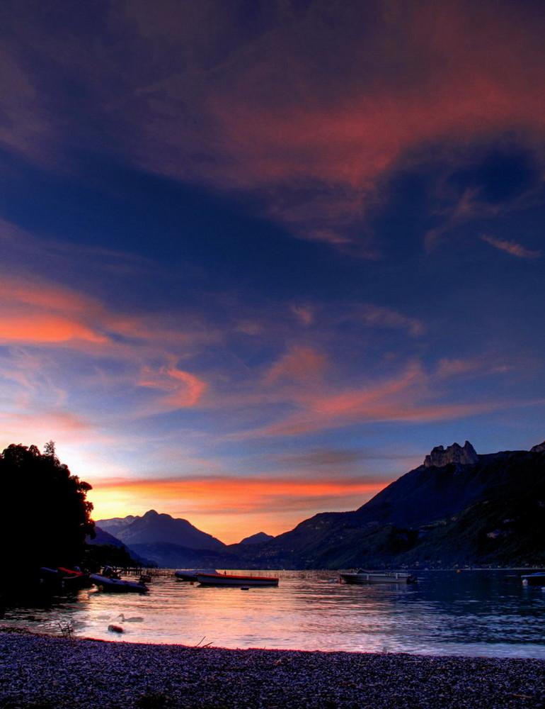 Sonnenuntergang am Lac de Annecy