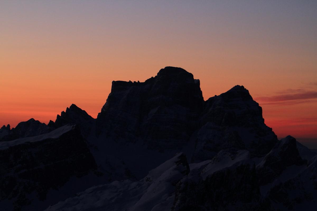 Sonnenuntergang am Lagazuoi