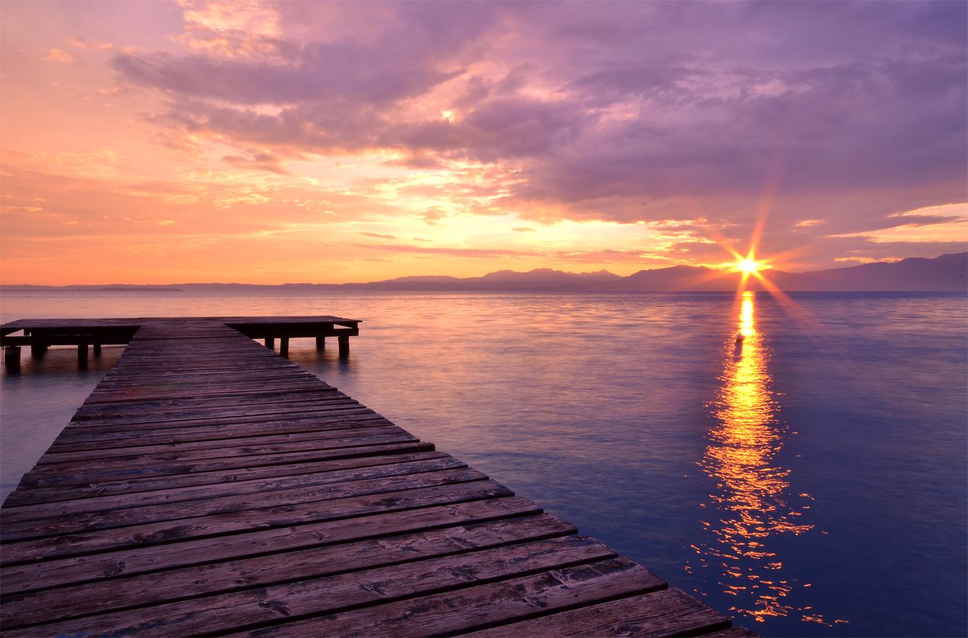 Sonnenuntergang am Lago