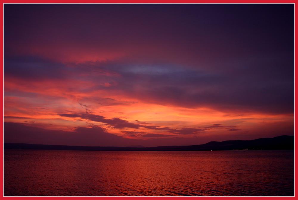 Sonnenuntergang am Lago di Bolsena