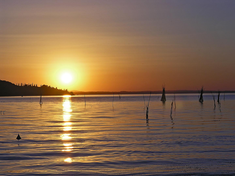 Sonnenuntergang am Lago Trasimeno