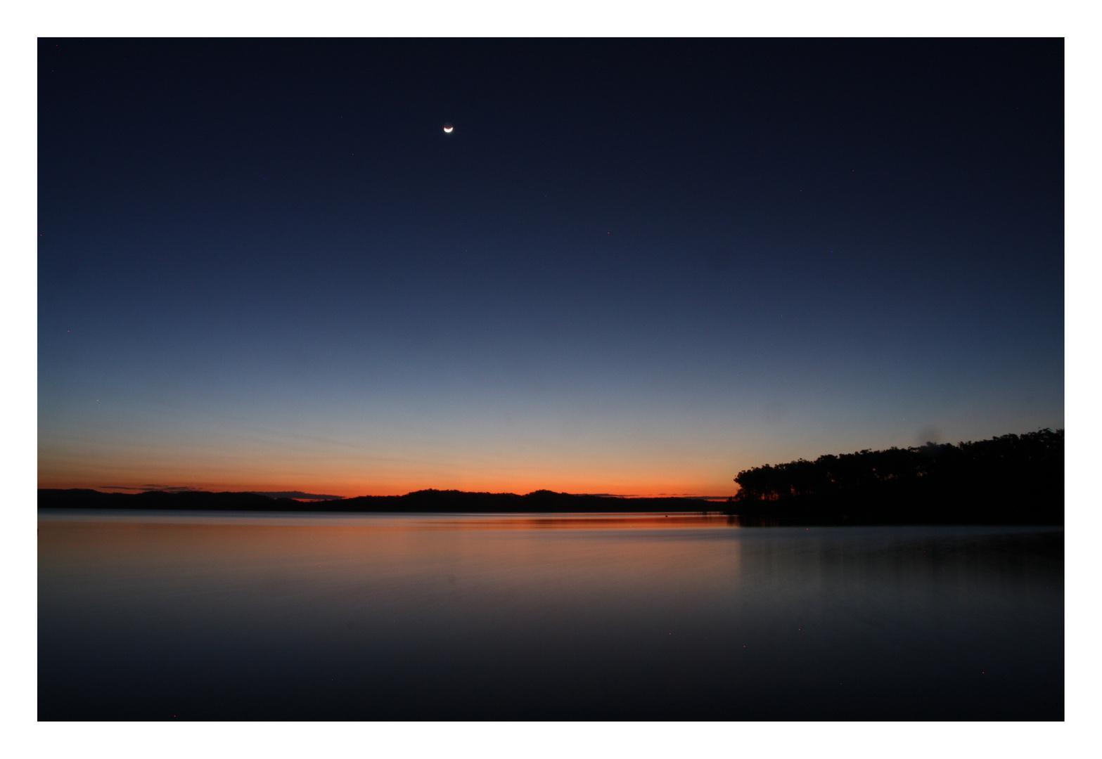 Sonnenuntergang am Lake Awoonga