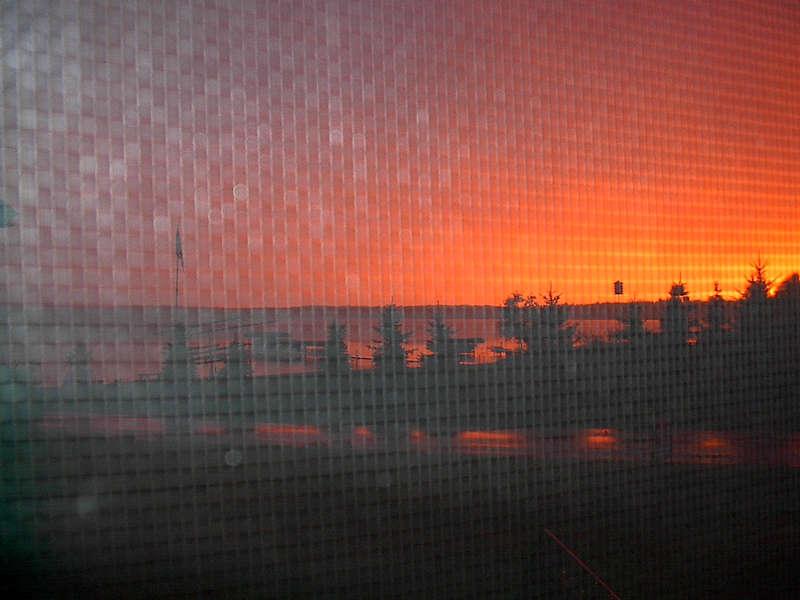 Sonnenuntergang am Lake Michigan