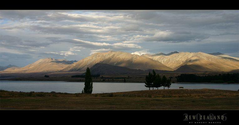 Sonnenuntergang am Lake Tekapo
