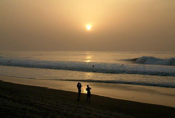 Sonnenuntergang am Laybato /Gambia/Westafrika