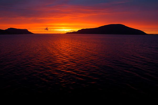 Sonnenuntergang am letzten Bordtag
