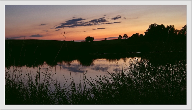 Sonnenuntergang am Main-Donau-Kanal