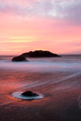 Sonnenuntergang am Marshall Beach