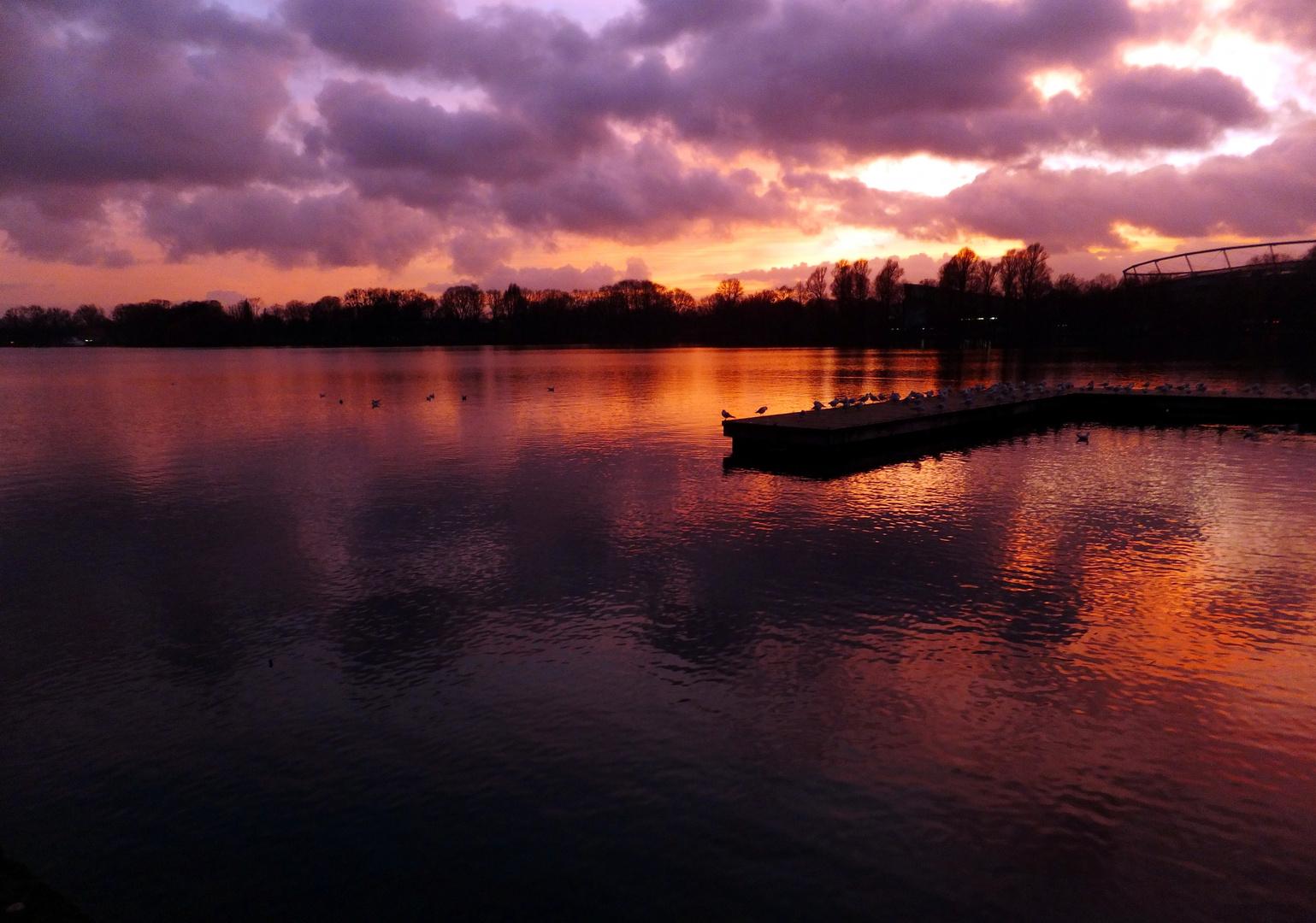 Sonnenuntergang am Maschsee
