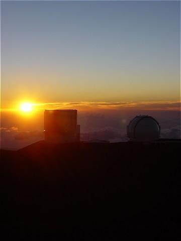 Sonnenuntergang am Mauna Kea