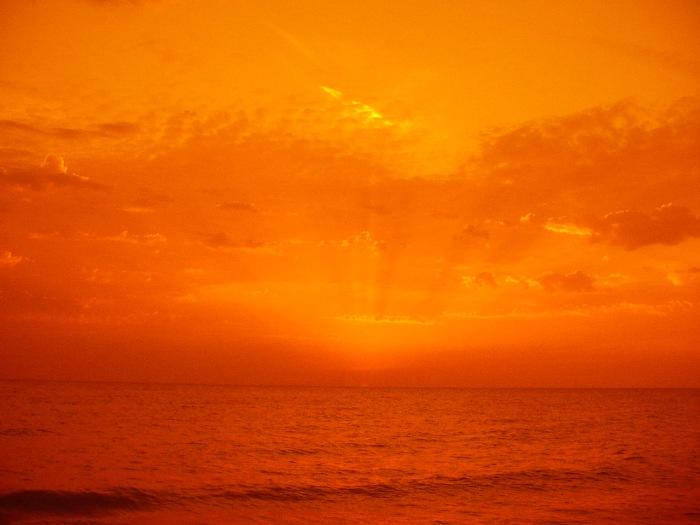 Sonnenuntergang am Meer #1