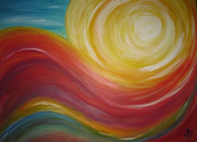 Sonnenuntergang am Meer abstrakt