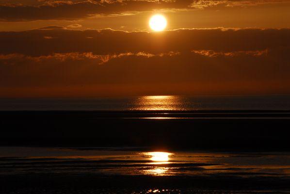 Sonnenuntergang am Meer - Borkum 2011