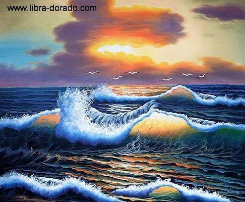 Sonnenuntergang am Meer (Handgemaltes Ölgemälde)