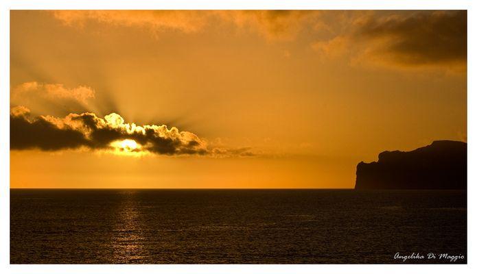 Sonnenuntergang am Mittelmeer