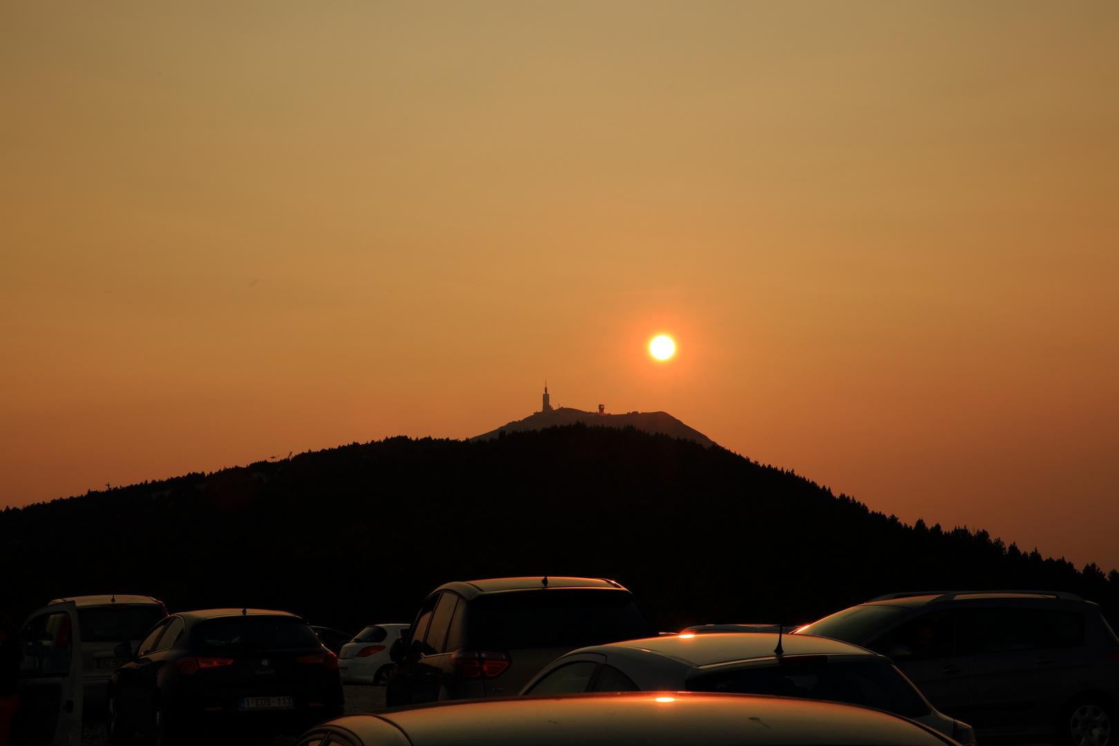 Sonnenuntergang am Mont-Ventoux