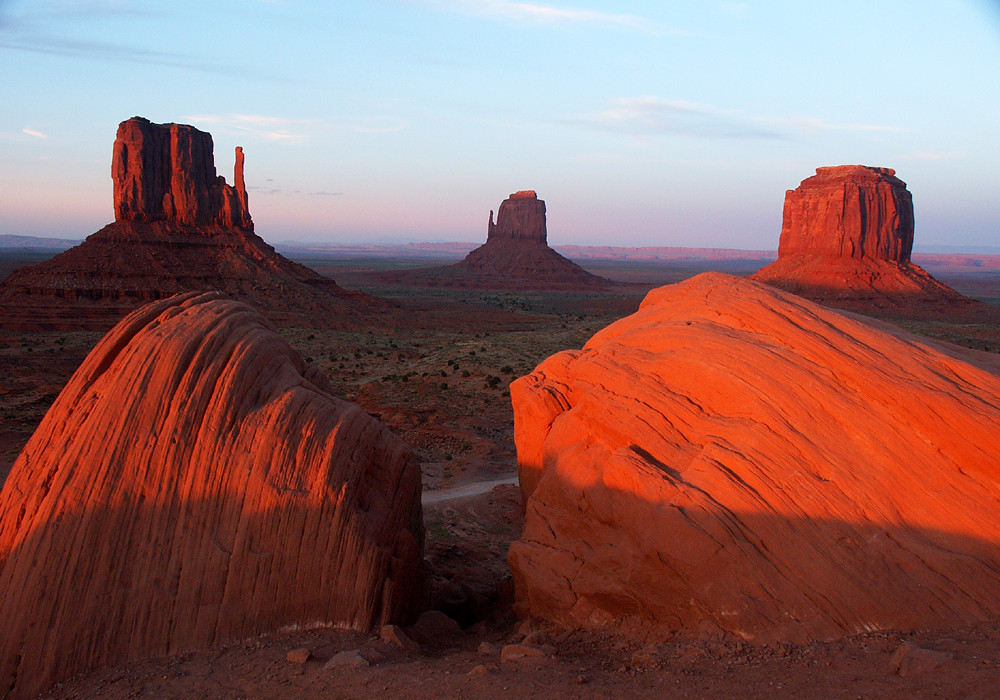 Sonnenuntergang am Monument Valley, USA