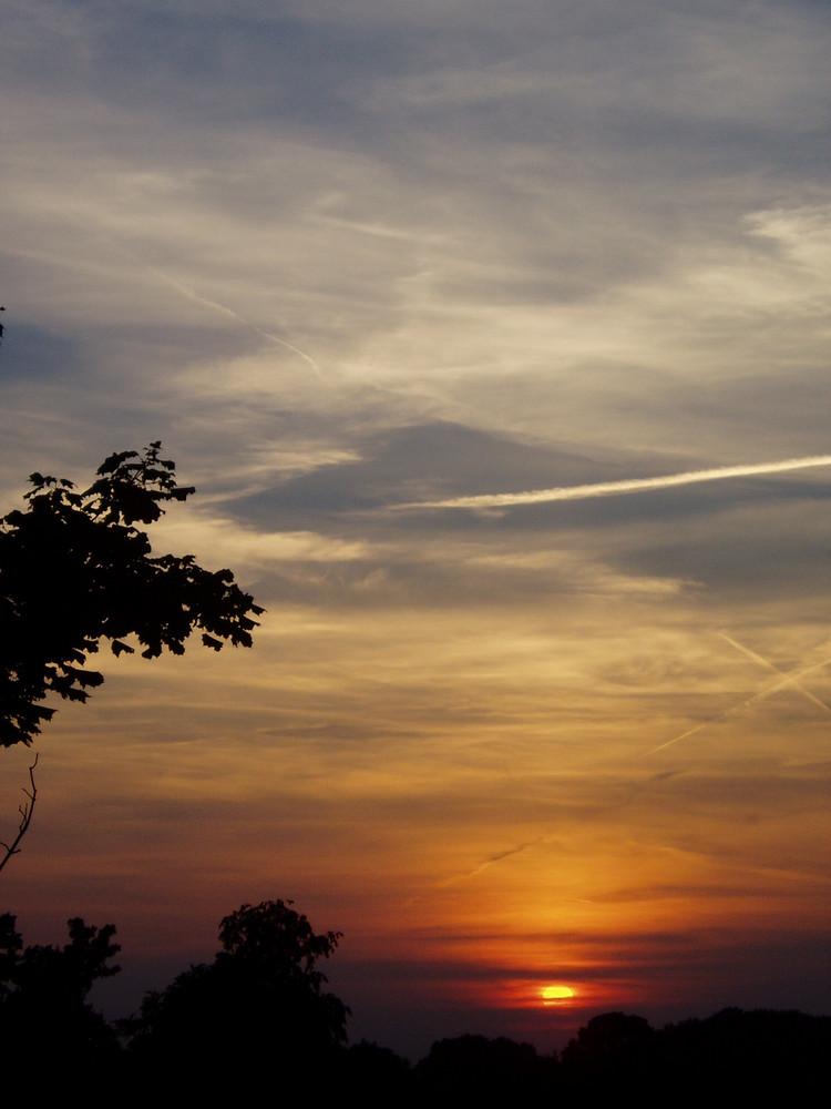 Sonnenuntergang am Münsteraner Himmel