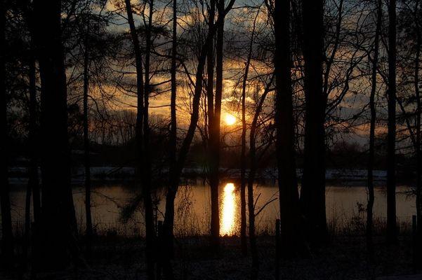 Sonnenuntergang am Nesthauser See