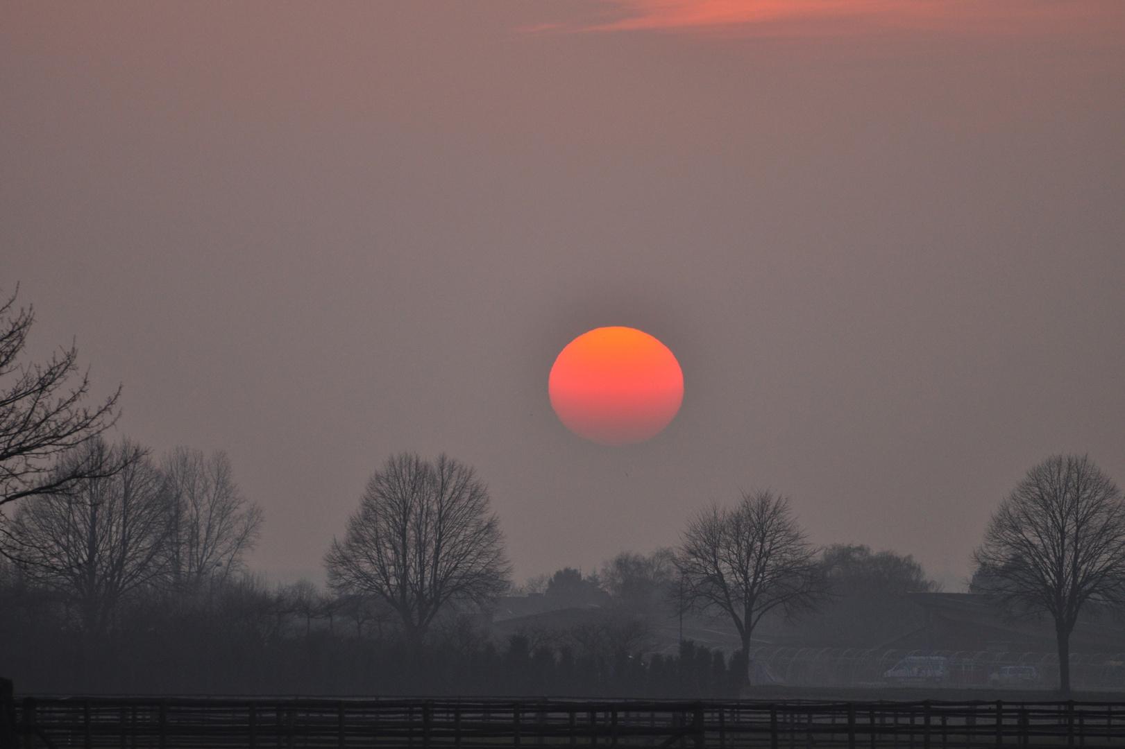 Sonnenuntergang am Niederhein